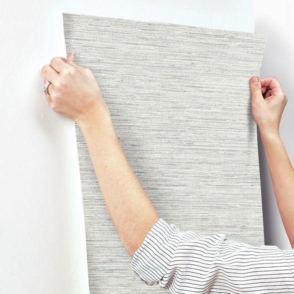 Roommates Grasscloth Peel Stick Wallpaper Gray Grasscloth Peal And Stick Wallpaper Peel And Stick Wallpaper