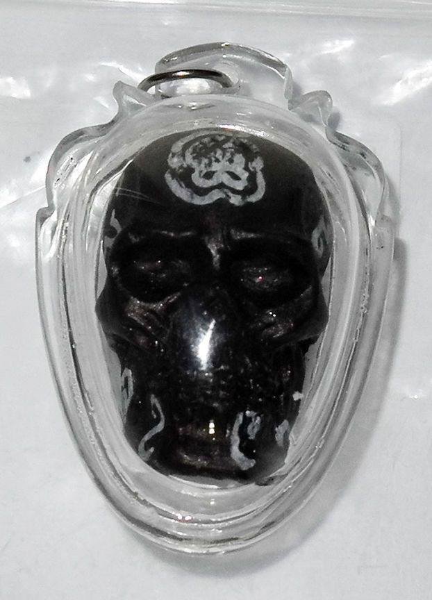 cool Prai Krasip amulet - Lersi Phetmuni - This is a now a rare amulet and the last one of these from Lersi Phetmuni in any store i know. This is a stunning Prai Krasip skull that has great han... #amulets #occult #Thailand Check more at http://www.buddhistmagic.com/product/prai-krasip-amulet-lersi-phetmuni/