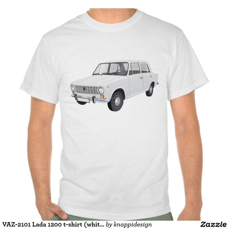 VAZ-2101 Lada 1200 t-shirt (white)  #vaz #vaz2101 #lada #lada1200 #fiat #soviet #sovietunion #automobile #car #tshirt #tshirts #russia #70s #80s #classic #zazzle