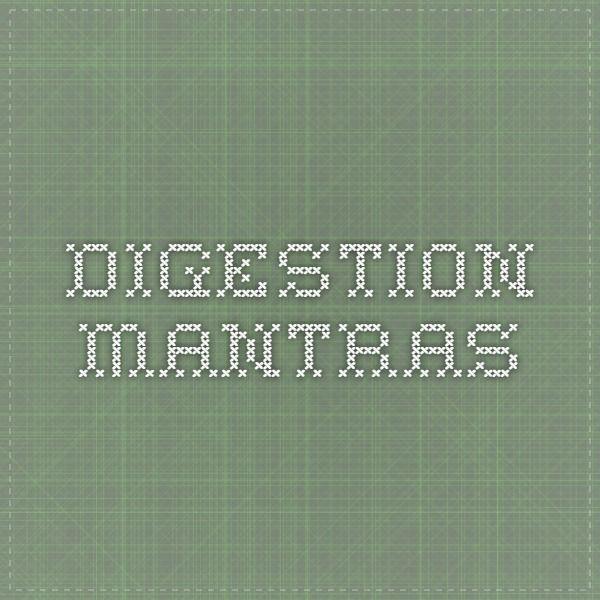 Digestion Mantras
