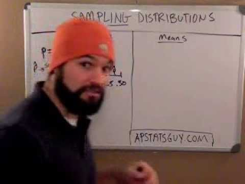 """WHAT IS A """"SAMPLING DISTRIBUTION"""" and how is it different from a """"sample distribution""""... and stuff - YouTube"""