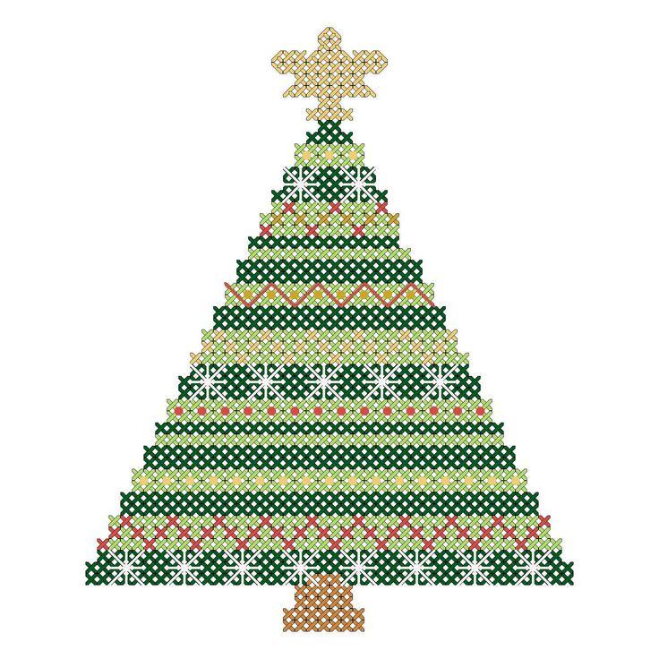 Christmas Ornaments Cross Stitch Patterns Christmas Tree