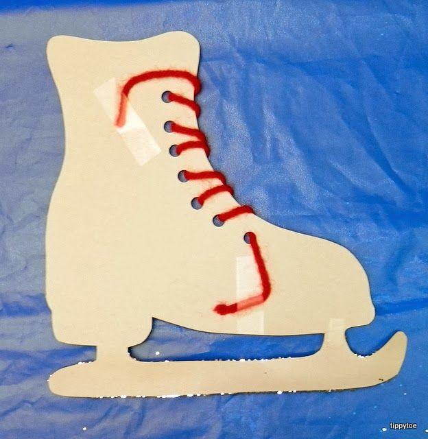 Ice Skate Winter Olympics craft  Not really good for my group, but this would be good for the little ones