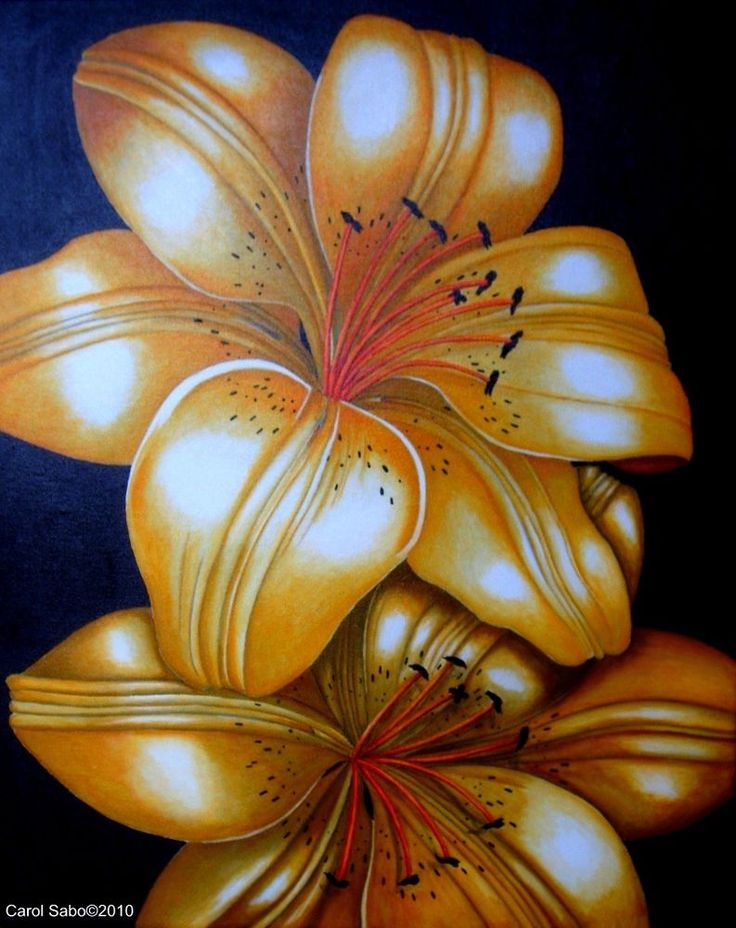 Tiger Lilies, Orig. Painting by the artist, Realism, #realism,now #Realism