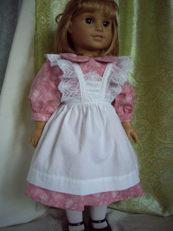 American Girl doll old fashioned party dress with apron - Girl ...