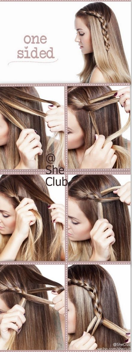 how to braid a one-sided waterfall braid