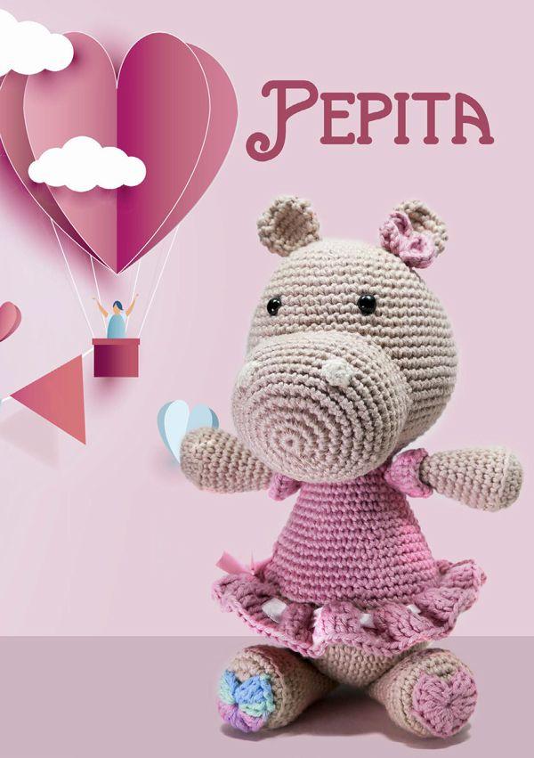Hipopótamo de Crochê Pepita - Barroco Multicolor - Blog do Bazar Horizonte - Maior Armarinho Virtual do Brasil