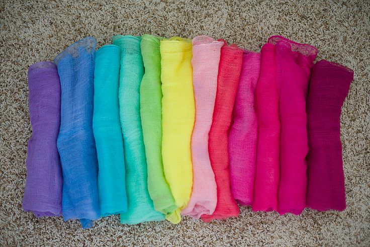 Crafty Corner: How to Dye Cheesecloth for Newborn Wraps