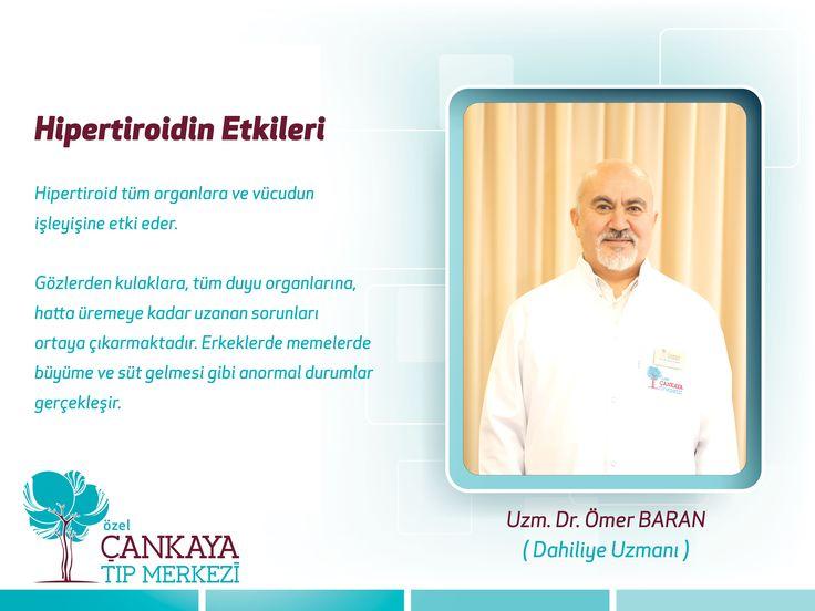 Dahiliye Uzmanı ➨ Uzm. Dr. Ömer BARAN #sağlık #tedavi #tiroid