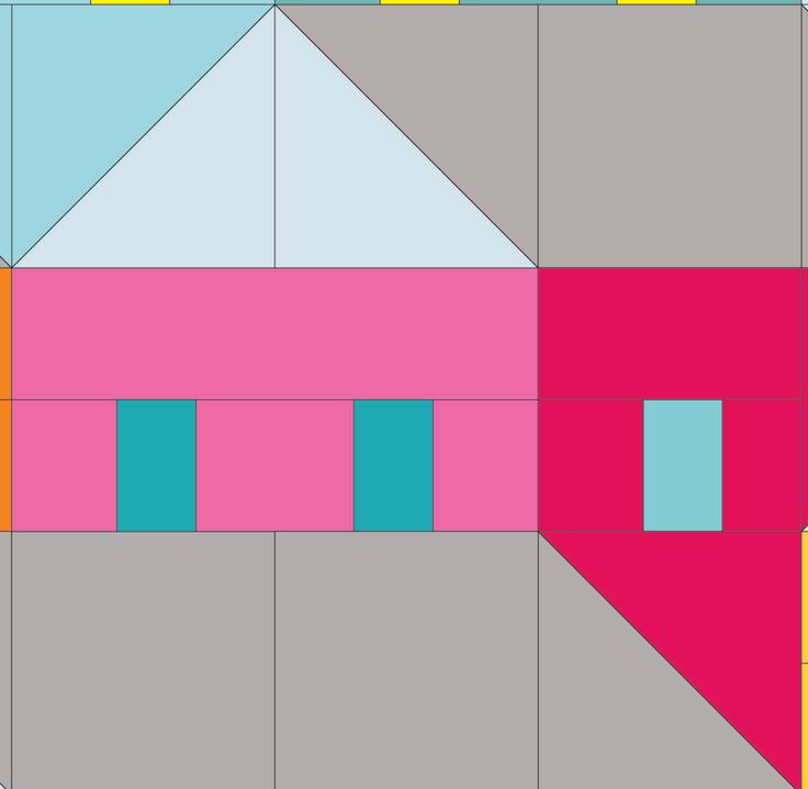 (7) Name: 'Quilting : Hillside Houses Block 5
