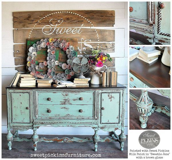 Milk Painted Antique Buffet but I will try with chalk paint
