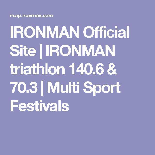 IRONMAN Official Site | IRONMAN triathlon 140.6 & 70.3 | Multi Sport Festivals