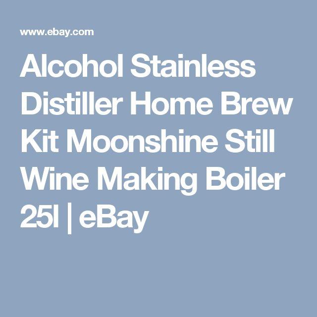 Alcohol Stainless Distiller Home Brew Kit Moonshine Still Wine Making Boiler 25l   eBay