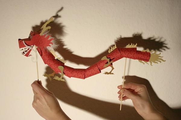 fortune dragon paper toy #freebie