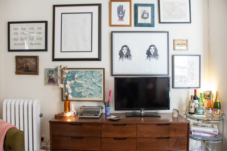15 best images about wall arrangements on pinterest diy wall curtain rods and tvs - Pinterest small spaces gallery ...