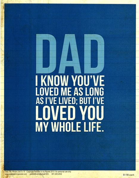 <3 This would be so cute on canvas to give your dad for Father's Day!
