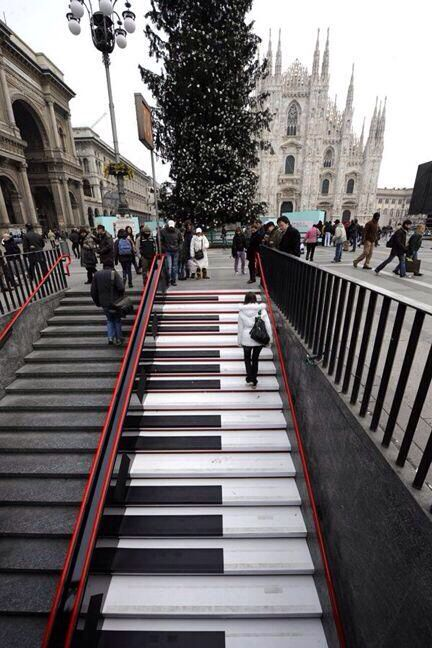musical stairs, Milan - Italy