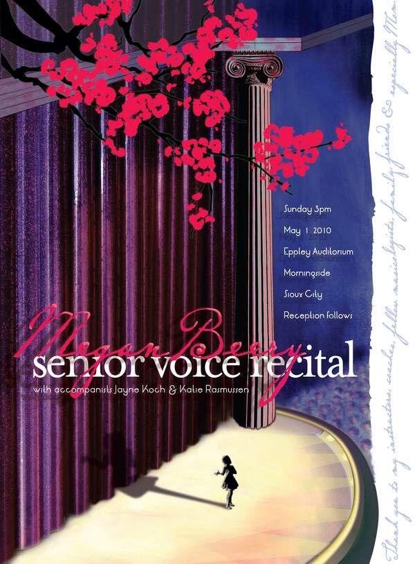 Senior voice recital poster
