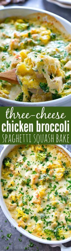 This cozy spaghetti squash bake is loaded with three kinds of cheese and tons of…
