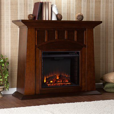 Boston Loft Furnishings Holland Electric Media Fireplace #home decor sale & deals Finish:Espresso Holland Electric Media Fireplace Clean lines and a richfinish come together in harmony with this romantic, contemporary fireplace - it...