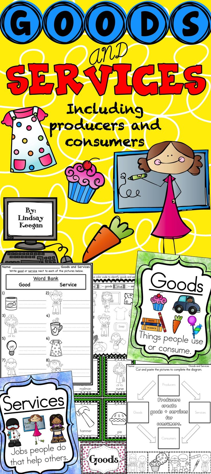 Goods and services including producers and consumers.
