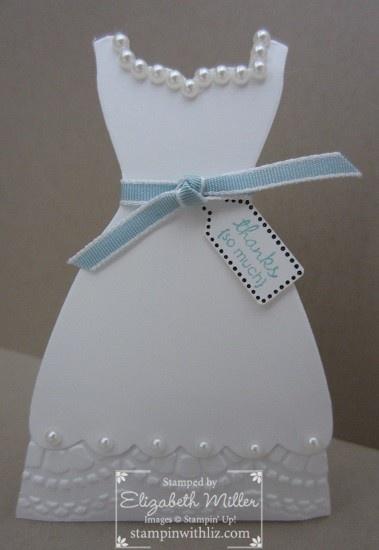 Stampin Up wedding / bridal shower favor box idea using Dress Up framelits