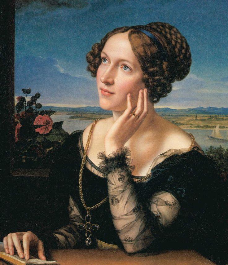 Portrait of the Artist's Wife Wilhelmina (c.1828) Carl Joseph Begas (German, 1794-1854). Oil on canvas, Kreismuseum Heinsberg.