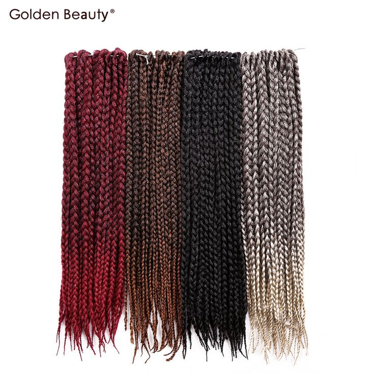 Golden Beauty 18inch box braid extensions Crochet Hair Ombre Synthetic Braiding hair for black women