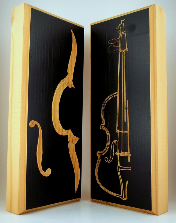SET of TWO Music Wall Art Violin Orchestra Composer Musician Gifts, Handmade Wooden by TheSqueakyParrot on Etsy