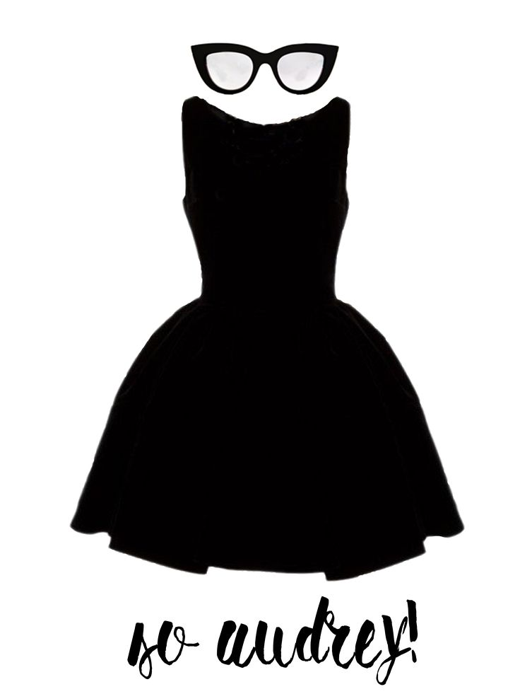 """So Audrey"" a fashion design by Lisa Carboni www.lisacarboni.it  #AudreyHepburn #fashion"