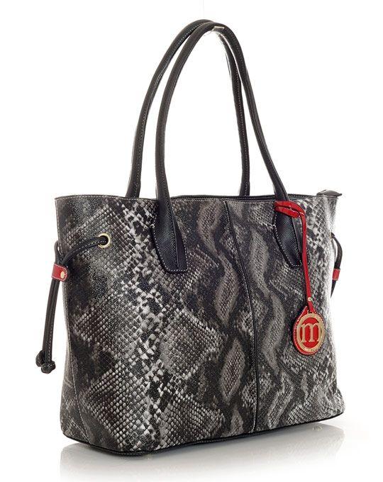 MONNARI szary waz shopperka snake A4 torba #184625 (5663042083) - Allegro.pl - Więcej niż aukcje.