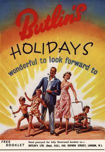 Butlins holidays - poster from the 1950s