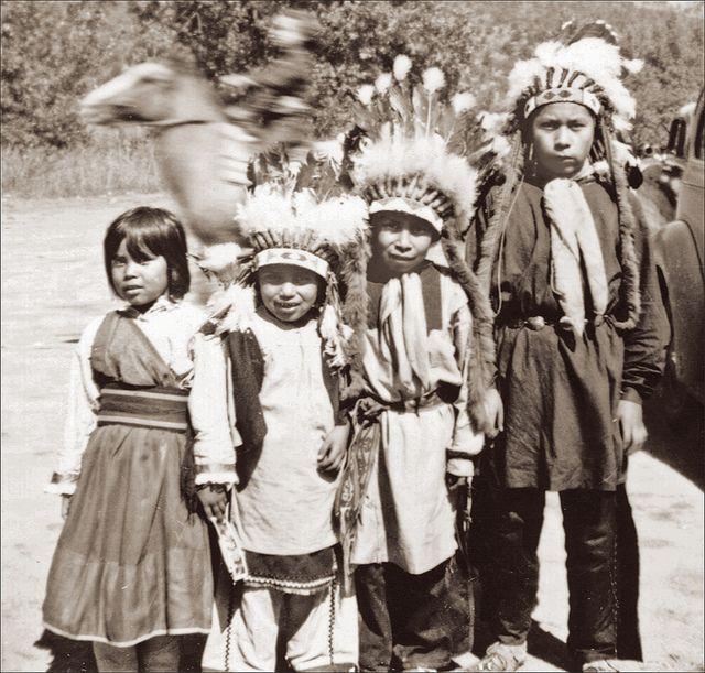 Native Americans at Garden of the Gods, Colorado