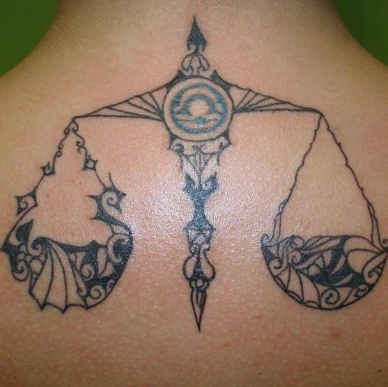 Zodiac Libra the scales Tattoo