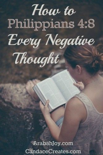 Learning to take every thought captive using Philippians 4:8