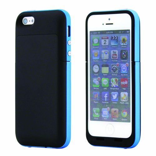 Black and Blue coloured iphone 5 5s and SE model charging power cases available from our online webstore