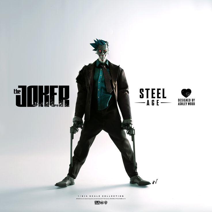 October 4th. Designed by Ashley Wood. #threeA #AshleyWood #AshleyWoodArt #WorldOf3A #WO3A #SteelAge #TheJoker #Joker #DCComics