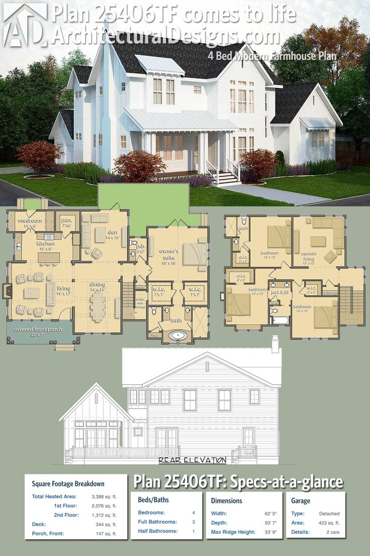best 20 houzz ideas on pinterest house design utensil storage architectural designs modern farmhouse plan 25406tf gives you 4 beds 3 5 baths and over 3 300