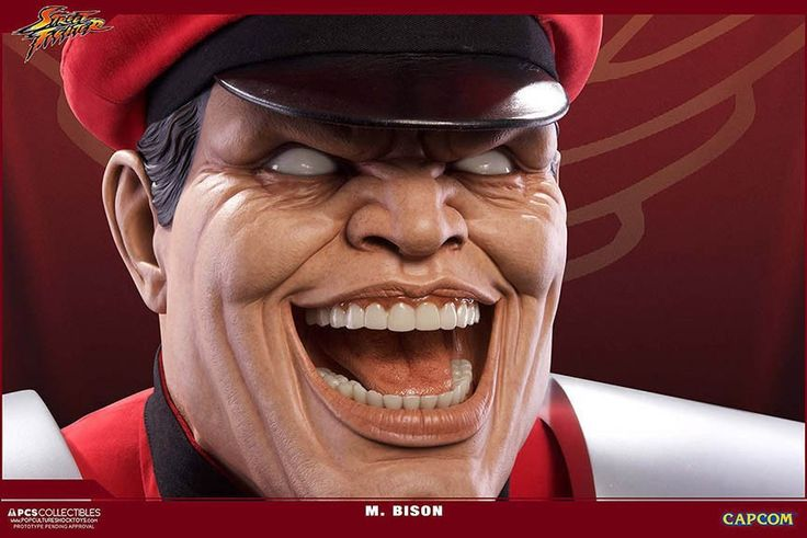Street Fighter - M.Bison 1:1 Scale Life-Size Bust | Pop Culture Shock Collectibles M.Bison Lifesize Bust | Popcultcha