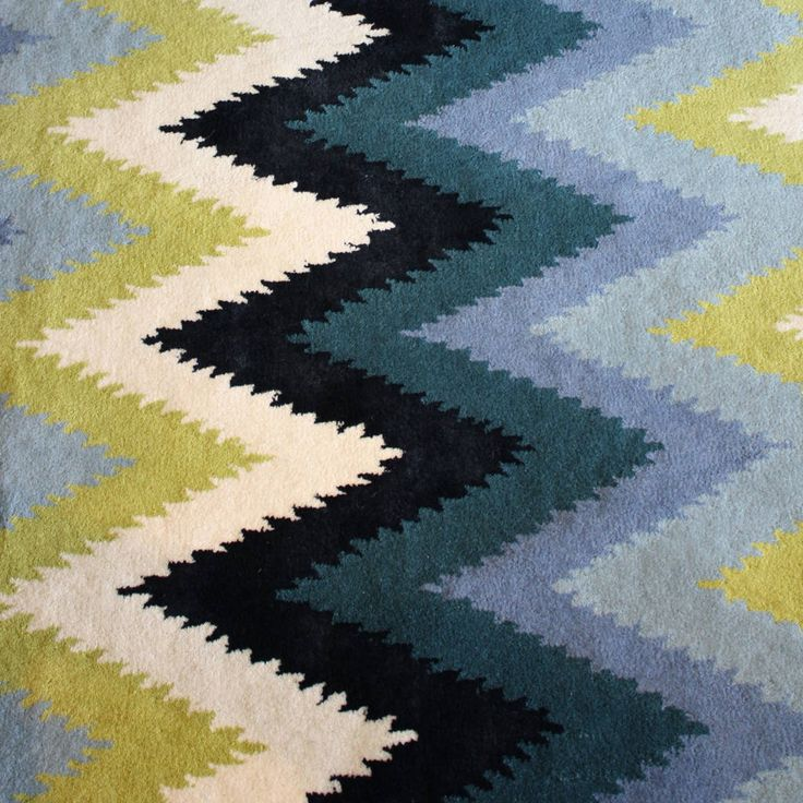 Bright, Bold Chevron Designs In Greens And Blues That Open Up A World Of  Modern