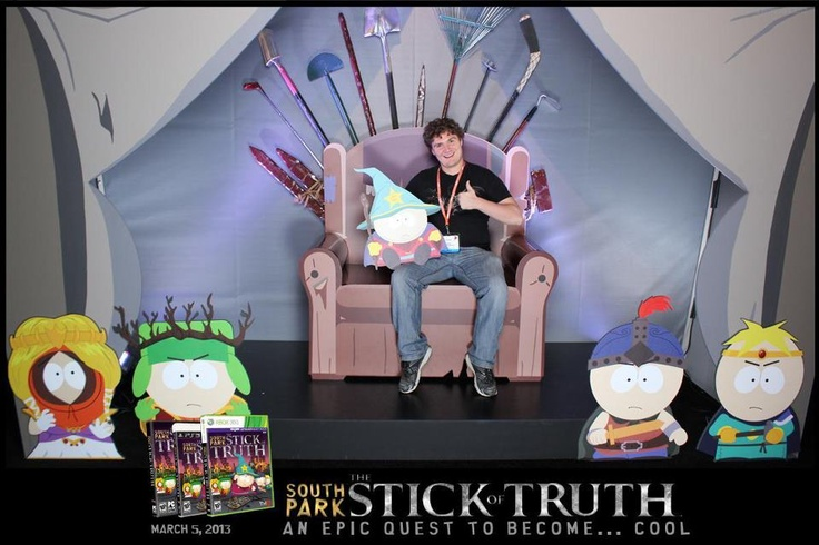 South Park Stick of Truth exhibit at Gamestop EXPO 2012 #game