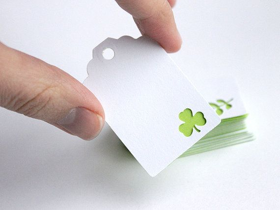 St. Patrick's Day gift tags small paper by MapleApplePapergoods
