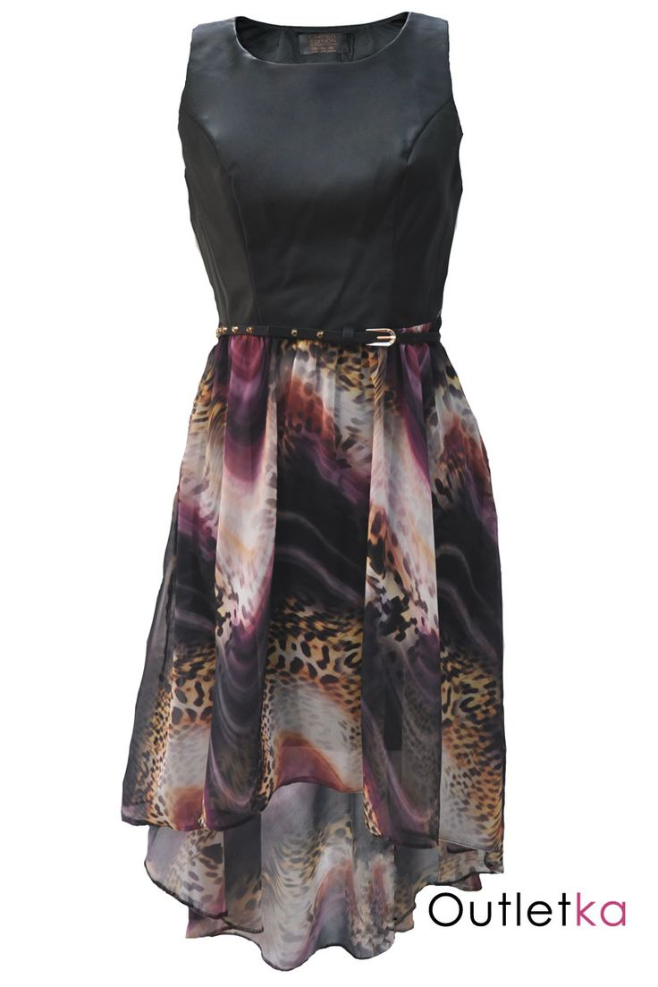 Sukienka, skóra + pasek