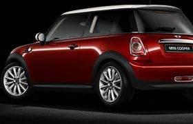 Mini Cooper, perfect shade of red. All it's missing is the barn doors in back :)
