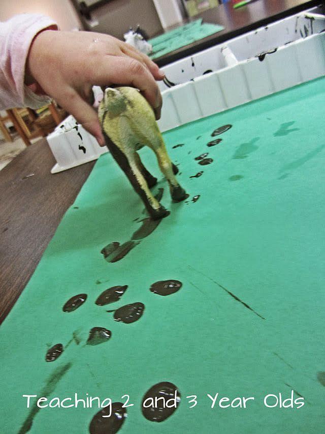 Preschool Farm Art - Teaching 2 and 3 Year Olds