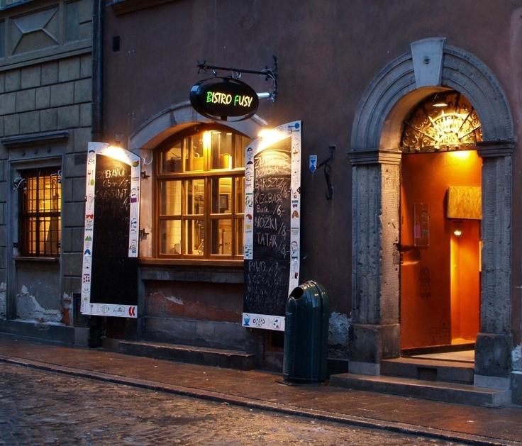 """""""Bistro Fusy"""", 11/13 Nowomiejska St., Old Town-Warsaw, Poland"""