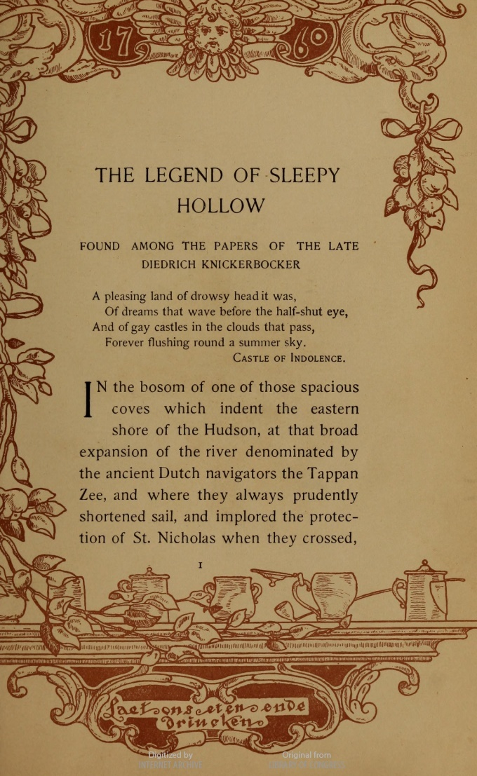 "an analysis of the legend of sleepy hollow by washington irving The legend of sleepy hollow the themes the setting the natural and the supernatural are defining themes of ""the legend of sleepy hollow"" washington irving shows."