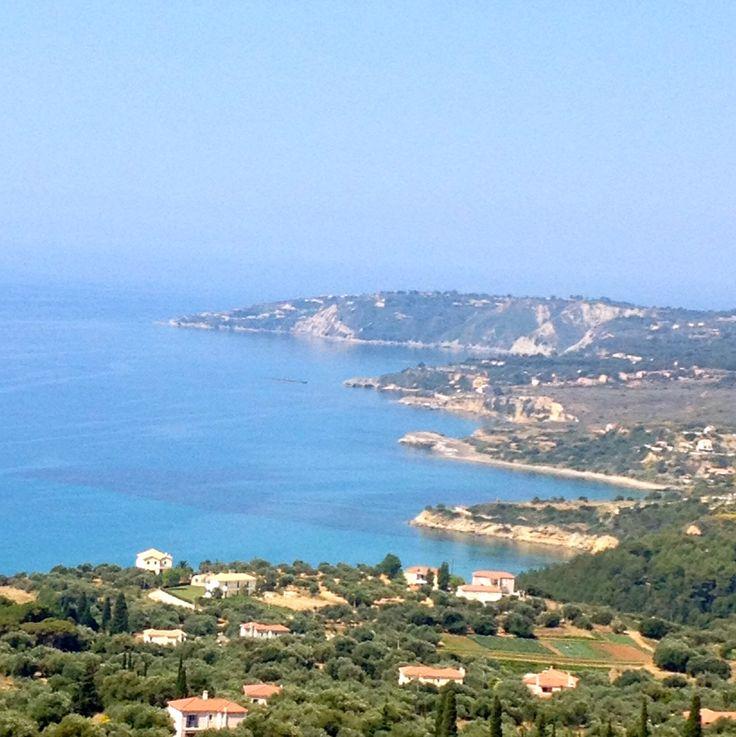 The famous Pessada Bay view from Vlachata #Lourdas heights