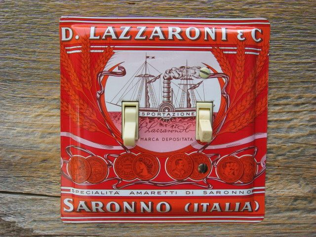 Mediterranean Decor Tuscany Italian Kitchen Light Switch Cover Double Switchplate Plate Lighting Made From An Old Biscotti Tin SP-0352 by tincansally on Etsy https://www.etsy.com/listing/175745451/mediterranean-decor-tuscany-italian
