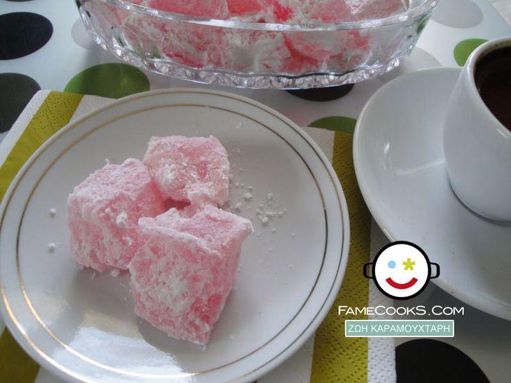 Συνταγή: Λουκούμια τριαντάφυλλο ! Απο την κουζίνα του χρήστη ΖΩΗ ΚΑΡΑΜΟΥΧΤΑΡΗ στο Famecooks.com #famecooks